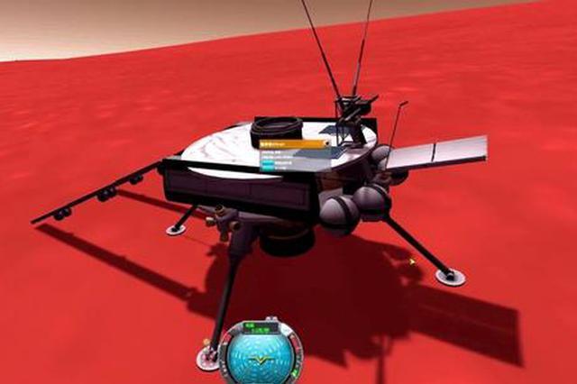 西安航天六院研制的天问一号3000N主发动机点火工作