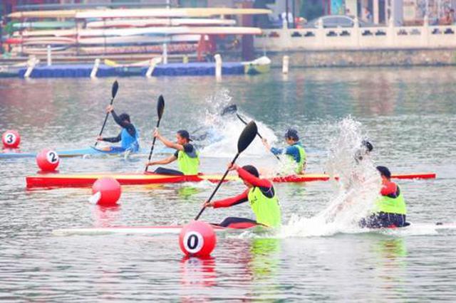 备战奥运·迎接全运  赛艇皮划艇选拔赛鏖战昆明池