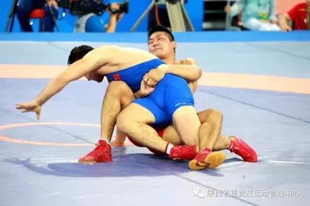 陕西省摔跤队斩获全国比赛2金1银1铜