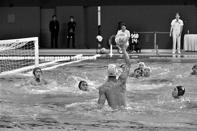 西安奥体中心迎首场赛事 全国男子水球冠军赛开赛
