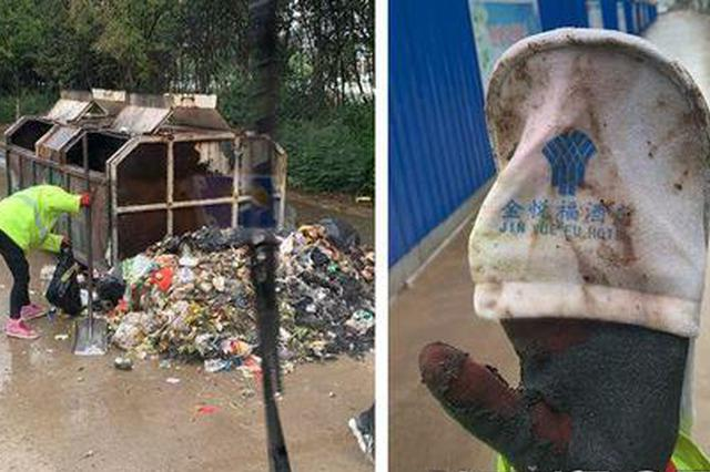 网友举报丹凤县一酒店乱倒垃圾 已被罚款200元