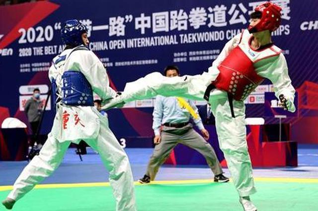 陕西运动员在中国跆拳道公开赛上斩获3金