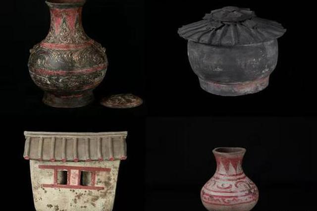 秦汉新城发现西汉早期大型墓地 出土2000多年前彩绘陶器