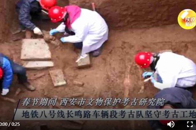 最忙考古队 西安地铁8号线发现古墓1356座