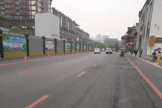 西安一路段标线是橙色市民质疑颜色调错了 交警:没错
