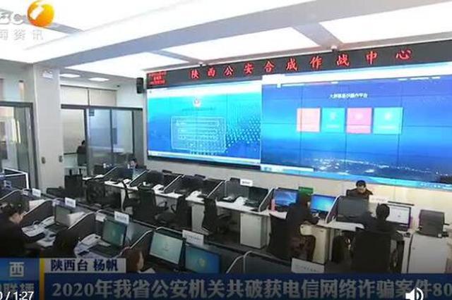 2020年陕西省公安机关共破获电信网络诈骗案件8055起