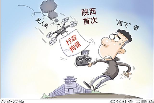 """西马期间未申报擅自操控无人机 陕西首次行拘无人机""""黑飞""""者"""