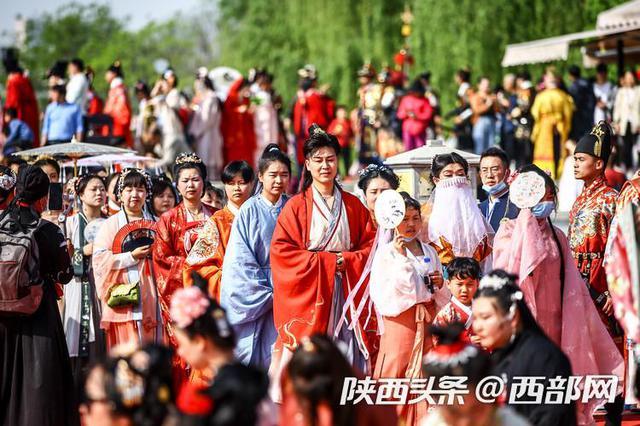 西安汉城湖举办上巳文化节 惊艳了这个春天