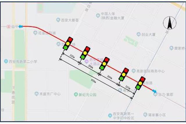 """西安交警推出""""绿波带""""优化交通 提升路段通行效率"""