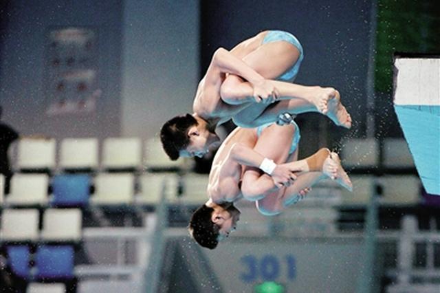十四运会男子双人10米台决赛 陕西双胞胎小将获铜牌