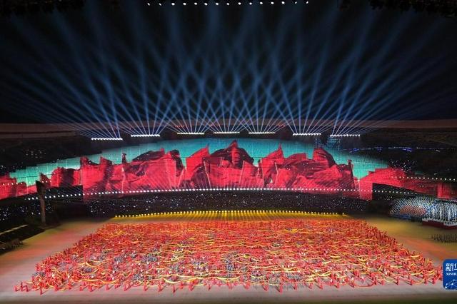奋斗新时代,奋进新征程——第十四届全运会开幕式文体展演侧