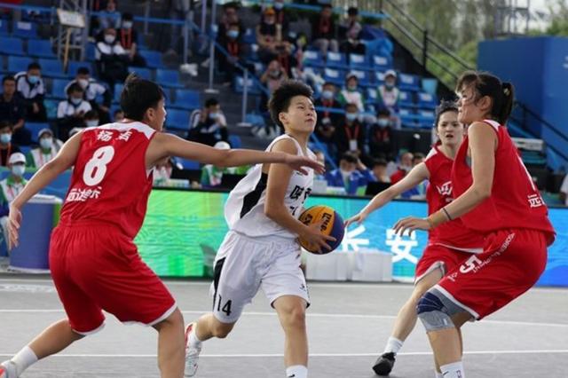 三人篮球U19女子组比赛陕西5胜1负 向四强发起冲击