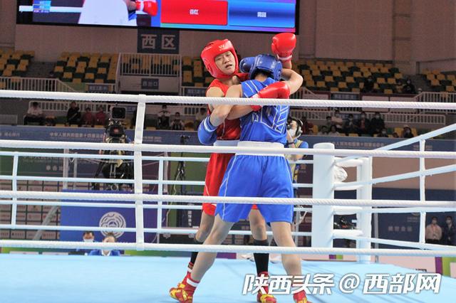 陕耀全运丨陕西队拳击选手谷红晋级十四运会女子69公斤级半决
