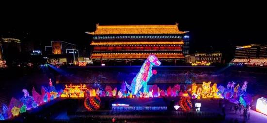 一岁一相见|超百万人观看,西安城墙灯会,我们明年见