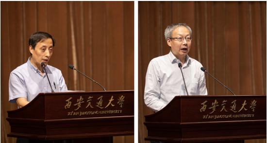 报告会由管理学院党委书记马晓彬和院长冯耕中共同主持。