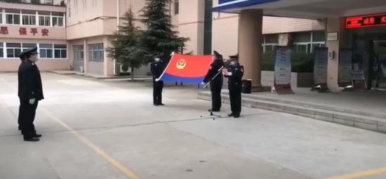 分局巡特警大队向警旗宣誓