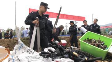 1251支非法枪在勉县销毁