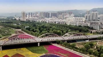 宝鸡:渭河生态景观美