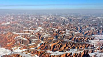 雪后初霁的黄土高原