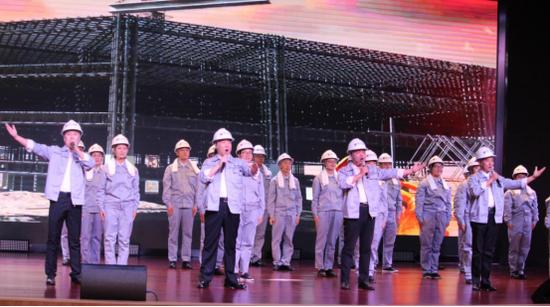 亚士创能科技(西安)有限公司员工演唱《时代号子》 摄影 柳洪华