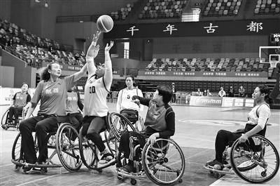 残运会轮椅篮球女子1/4决赛 陕西队不敌云南队