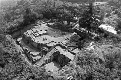 朝元阁遗址考古现场(资料图片)
