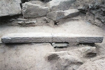 皇城台大台基南护墙石雕 (省考古研究院供图)