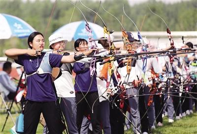 十四运射箭项目测试赛开弓 陕西一线射箭队员悉数亮相