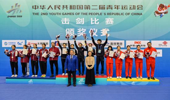 二青会击剑赛场传捷报 陕西女子剑客勇夺花剑团体冠军