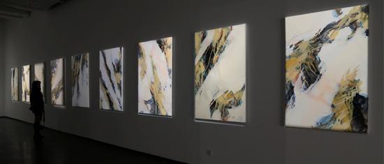 艺术家霍东泽作品展在西安美术馆开幕