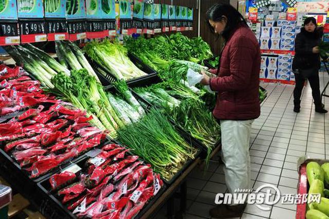 西安市场年前蔬菜价格普遍上涨 部分菜价翻了一番