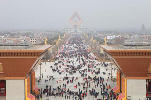 大年初二 陕西各大景区迎春节长假首个客流高峰