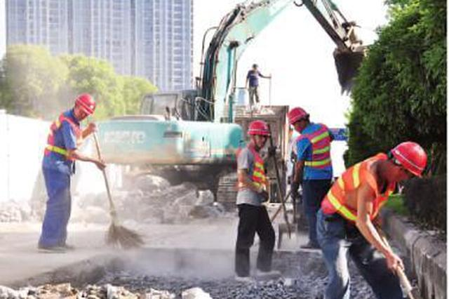 重玄路部分路段今起改造施工 计划工期为45天