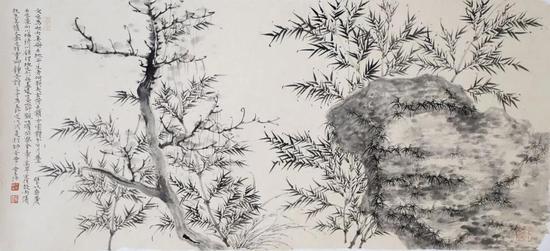 王 法 《好竹千竿翠》 48×105cm