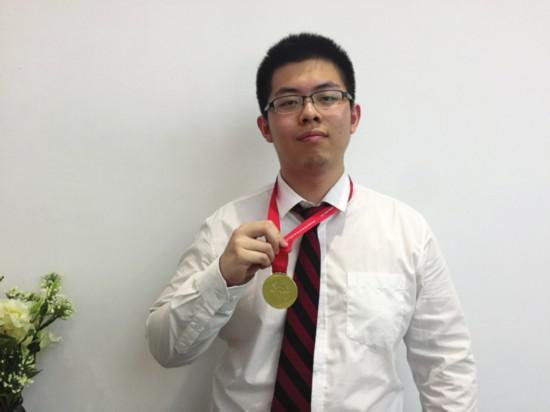 本届物理亚赛金牌得主刘金禹
