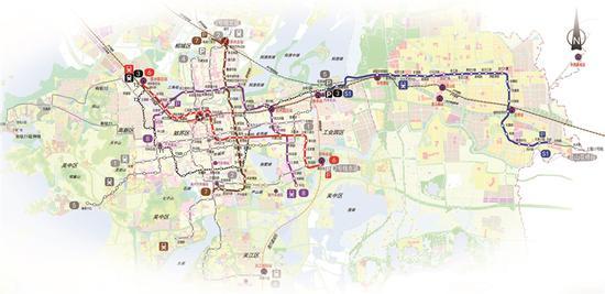苏州市城市轨道交通近期建设规划图(2018-2023年)