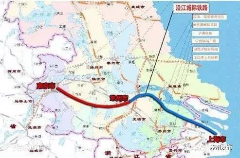 项目西起南京南站,经镇江市、常州市,进入无锡市、苏州市,全长约280公里,设计速度目标值350里/小时。
