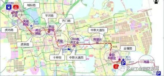 全线连接高新区、古城区和工业园区,强化了金鸡湖东西两岸之间的联系。