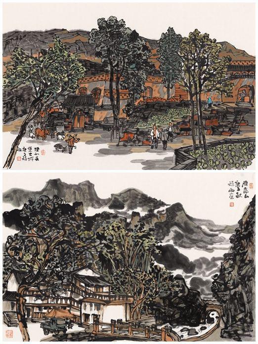 江山任性方多娇 著名画家周矩敏系列写生作品亮相