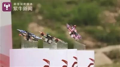 """无人机起飞宛如""""跳水""""。"""