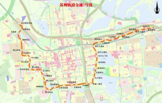 线路图由苏州轨道交通集团提供