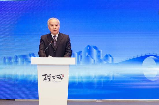 十二届全国政协副主席、国家电子政务专家委员会主任王钦敏致辞