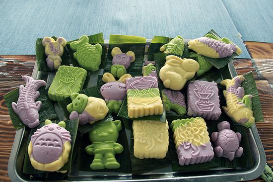 苏式糕点作品,小朋友们发挥想象力,做出多彩糕点