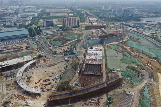 春申湖4标段现场施工
