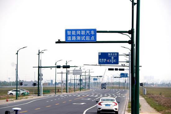 苏州高铁新城首期智能网联汽车测试道路