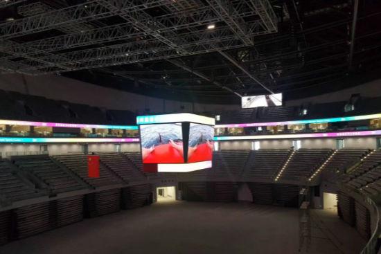 体育馆LED斗型屏和环场屏