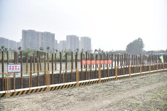 渭泾塘整治工程现场