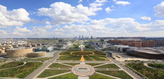 崭新的康巴什区城市景观