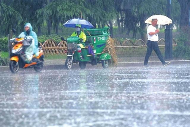 暴雨来袭苏城 市民生活工作增添不少麻烦