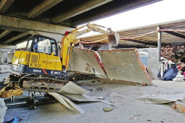 ladbrokes立博高架桥下违建厂房近万平方米 现被全部拆除